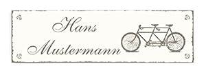 Türschild « TANDEM » mit persönlichem Namen Klingelschild Schild Shabby Bike...