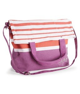 (Aeropostale Striped Fold-Over Tote Bag Retail: $39.50)