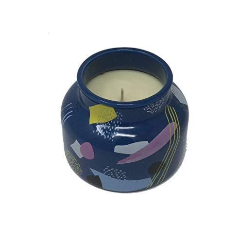(Capri Blue Ceramic Petite 8 Ounce Fragranced Candle With Blue Artwork, Volcano)