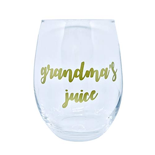 Cute JUICE Stemless Wine Glasses (Grandma's ()