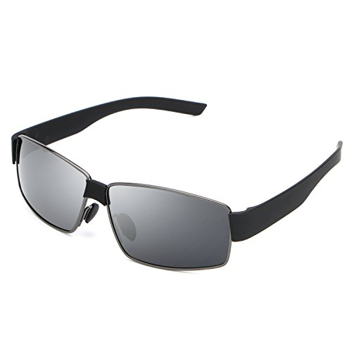 HDCRAFTER Metal Frame Polarized Driving Sunglasses Mens for Outdoor - Frame Cheap Large