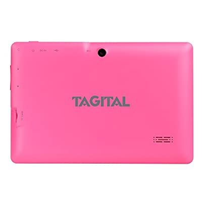 """Tagital® T7X 7"""" Quad Core Android 4.4 KitKat Tablet PC, Bluetooth, Dual Camera, Google Play Store Pre-installed, 3D Game Supported, 2015 Newest Model"""