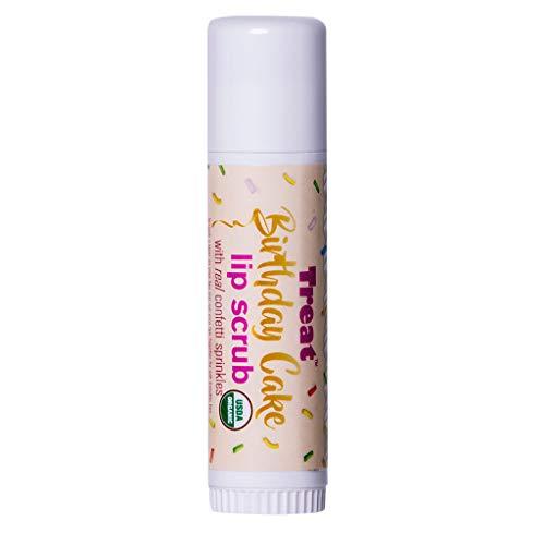 - TREAT Jumbo Lip Balm, Organic & Cruelty Free (.50 OZ) (Birthday Cake Lip Scrub)