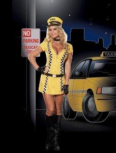 Tina Taxi Driver Costume - Medium - Dress Size -