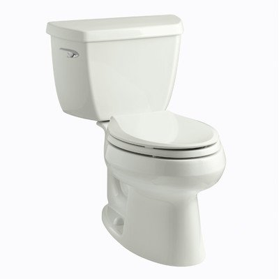 Kohler Wellworth Classic 1.28 gpf Elongated Toilet with Class Five Flushing Technology and Left-Hand Trip Lever