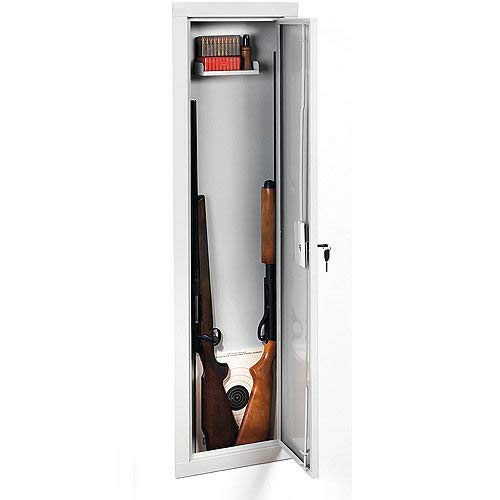 Selva Full Length Security Gun Cabinet | Wall Gun Storage Vault with Safe Key Lock | Approved Firearm Safety Container | Light Weight High Density Foam Interior | Large Heavy Duty for Shotguns Rifles