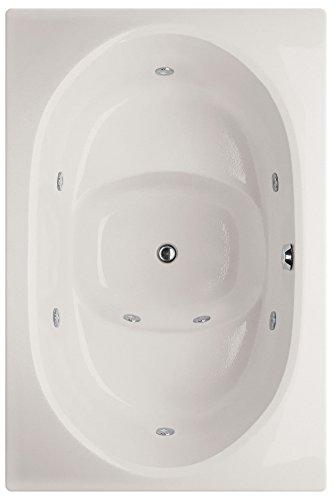 Fuji Acrylic Tub - Hydro Systems FUJ6040AWP-WHI-WOV.ORB Fuji Acrylic Tub with Whirlpool System (Drain Included), White/Oil Rubbed Bronze