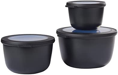 500/+ 1000/+ 2000 Plastica Mepal cirqula Set 3/DLG Plastica 19.2 x 12 cm Nordic Schwarz /Nordic Black 3 /
