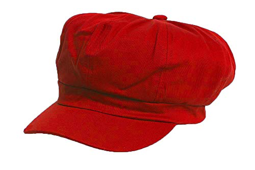 Cotton Elastic Newsboy Cap-...