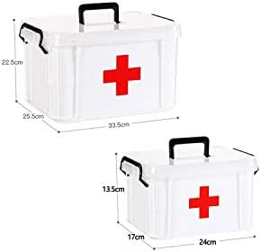 First Aid Kit Waterproof Plastic Storage Box Portable Outdoor Travel Car Drug Pack Security Emergency Kits Medical Treatment,S and L