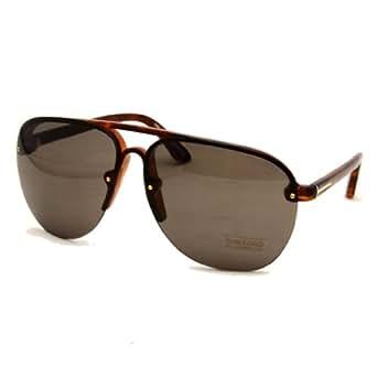 Tom Ford TF 240 54J Wilder Havana Rimless Teardrop Aviator Sunglasses