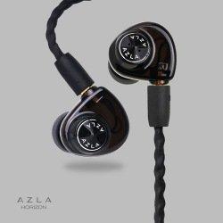 Blk Hybrid Silicone Earbuds - AZLA Dynamic Earphone HORIZON (Ebony Black) AZLA-HORIZON-BLK【Japan Domestic genuine products】【Ships from JAPAN】