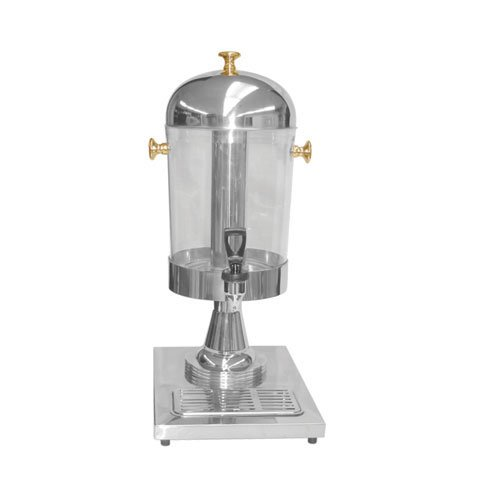 Thunder Group 2.2 Gallon Juice Dispenser, Stainless Steel With Gold Plated Accents