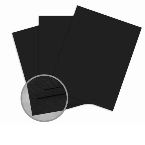 Treasures Black Card Stock - 8 1/2 x 11 in 80 lb Cover Textured 25 per Package (80 Cover Cardstock Lb Treasures)
