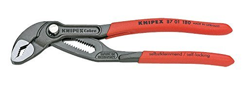 Knipex Tools 87 01 180 Box Joint 7-1/4'' Cobra High-Tech Water Pump Pliers