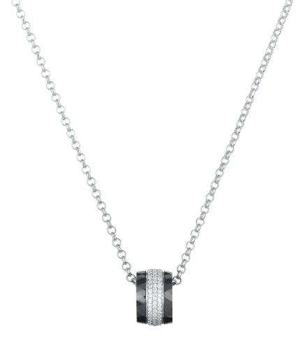 Ceranity - 1-52/0007-N - Collier Femme - Argent 925/1000 4.15 gr - Oxyde de zirconium - Blanc - 45 cm