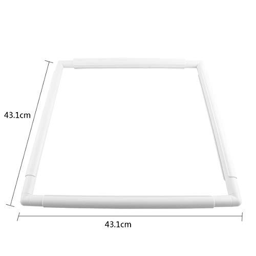 HaiQianXin Forma Cuadrada Conjunto de bastidores de Bordado de Punto de Cruz de plástico asidero del Marco de Costura…