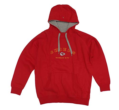 (Antigua Kansas City Chiefs Men's Red Victory Pullover Hooded Sweatshirt Large)