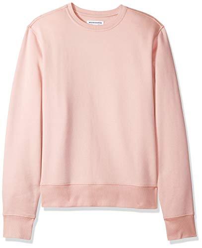 Amazon Essentials Men's Crewneck Fleece Sweatshirt, Pink, ()