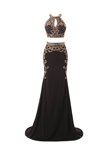 HarveyBridal Luxury Hand Beading 2 Pieces Formal Evening Gown Homecoming Dress