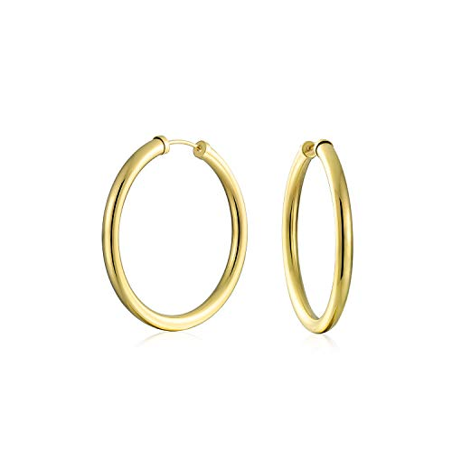 Gold Filled Loop - 10K Yellow Gold Filled Classic 35mm High-Polish Seamless