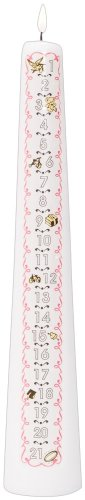 Celebration Candles 1-21 Year Numbered Birthday Candle, White