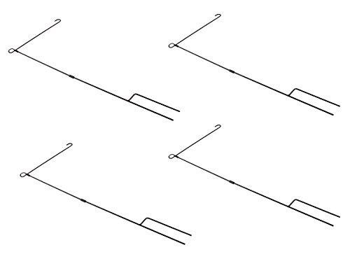 Garden Flag Kit (4 Pack of Solid Garden Flag Stand by Clever Creations | 3 Piece In-Ground Metal Construction | Perfect Flag Holder for 12