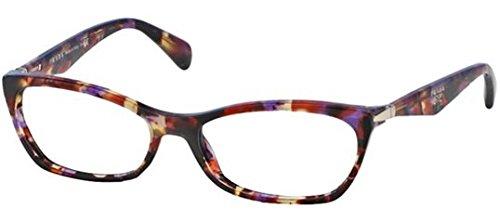 Prada PR15PV Eyeglass Frames PDN1O1-53 - Spotted Violet Havana PR15PV-PDN1O1-53 by Prada