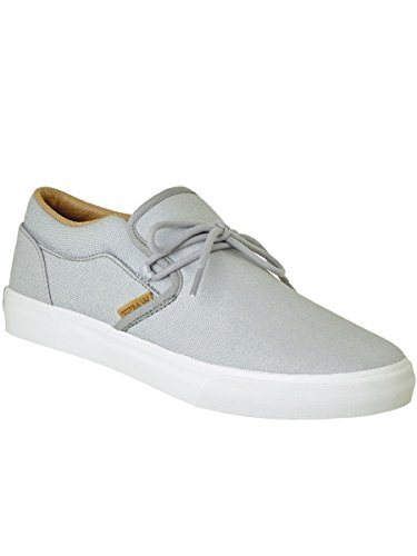 Supra Mens Cuba Lt. Grey White Skate Shoes