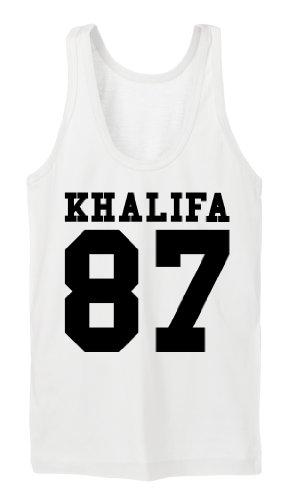 Khalifa 87 Tanktop Girls Blanc