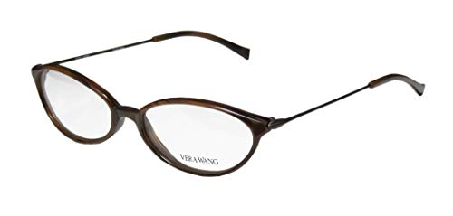 Vera Wang V11 Womens/Ladies Prescription Ready Hip & Chic Designer Full-rim Eyeglasses/Eyeglass Frame (49-16-135, - Frames Eyeglasses Metal Rim Full