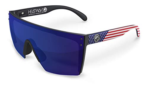 Heat Wave Visual Lazer Face Sunglasses in USA Stars and Stripes ()