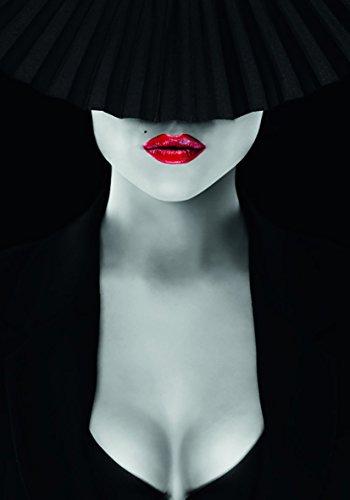 Eurographics FA-FRF4017 Secrets in my mind FashionArt Leinwand 75 x 55 x 3,5 cm, schwarz/rot