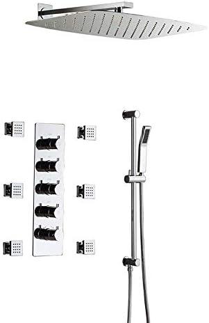 CLJ-LJ シャワー蛇口セットは、繊細なスプレーリフティングロッド側で隠さシャワー小流量サーモスタット箱入りバルブボディ