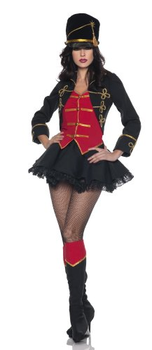 Underwraps Costumes  Women's March On, Black/Red/Gold, (Woman Lion Tamer Costume)