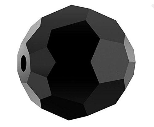 50 8mm Adabele Austrian Round Crystal Beads Jet Alternative For Swarovski Preciosa Crystalized Beads 5000 #SS2R-823 (Crystal Beads Jet Black)