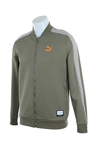 Puma Mens Sweat Jacket - PUMA Men's Winter Long Sweat Jacket Burnt Olive Outerwear