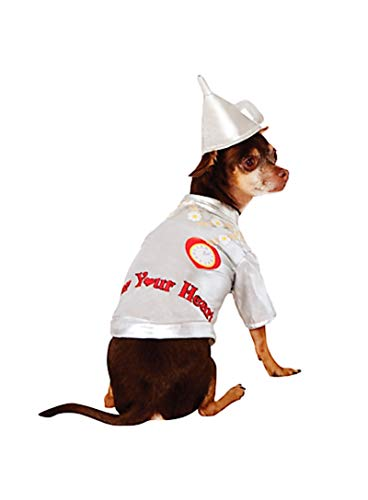 HalloCostume Wizard of Oz Tin Man Dog Costume, Dog Costumes for Halloween -