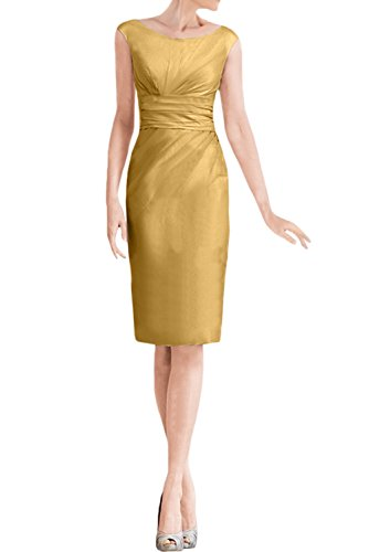 Sunvary Graceful Mother Of The Bride Dress Jewel Waist Knee Length With Jacket Size 24W-Gold