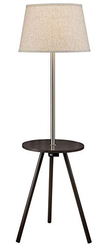 Floor Lamp Combo Pack - SH Lighting Round End Table Floor Lamp Combo - Features USB Charging Port & Power Outlet - 55