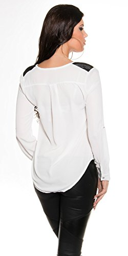 In-Stylefashion - Camiseta sin mangas - para mujer blanco