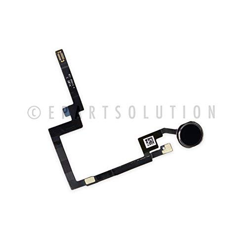 ePartSolution_iPad Mini 3 A1599 A1600 Home Button Module Flex Cable Fingerprint Sensor Flex Menu Key Black Replacement Part USA Seller