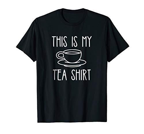 (This is My Tea Shirt Funny Tshirt Food Drink Black Cup)