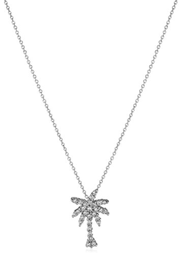Roberto Coin 18k White Pave Diamond Palm Tree Tiny Treasure Necklace (Coin / Diamond 18k Roberto Necklace)