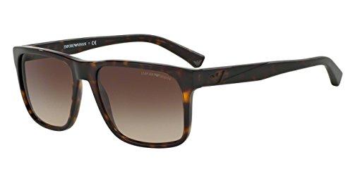 Armani EA4071 Sunglasses 502613-56 - Dark Havana Frame, Brown (Dark Havana Frame)