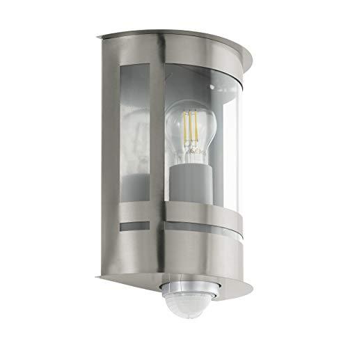 EGLO Outdoor wandlamp TRIBANO, 1-lamps buitenlamp incl. bewegingsmelder, sensor wandlamp gemaakt van verzinkt staal…