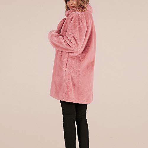Donne Vonvonco Modo Di Sportiva Rosa Signore Caldo Jacket Casuali Tuta Lungo Parka Faux Fur wTSpwq