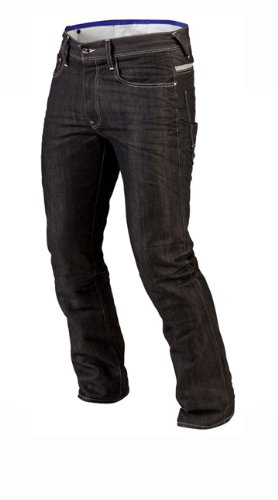 Juicy Trendz Herren Motorradrüstung Biker Motorrad Denim Hose Jeans Schwarz W36 L34