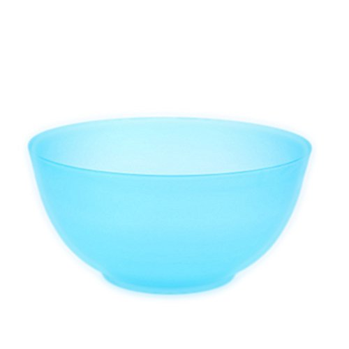 Fun Multi-Colored BPA-Free Bowls - Cereal Fruit, Soup Bowl or Salad Bowl Blue