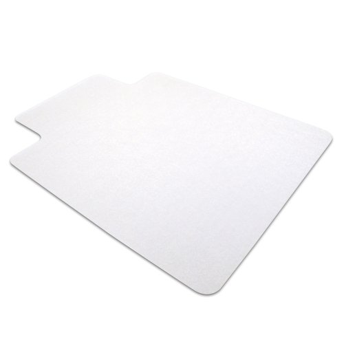 Cleartex Advantagemat Chair Mat for Hard Floors, Clear PVC, Rectangular with Lip, 36'' x 48'' (FR129020LV) by Floortex